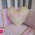 Gold Heart Shape Name Cushion