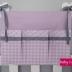 Lilac & Grey Cot Organiser
