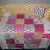 Yellow/Pink Patchwork Cot Set