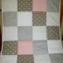 Grey/White/Pink Patchwork Comforter