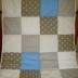 Grey/White/Blue Patchwork Comforter