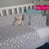 Grey & White Clouds Cot Set