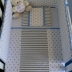Cot Set in Grey/White Polka Dots & Stripes with Blue