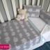 Grey Ellie Print  Baby Blanket