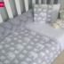 Grey & White Ellie Print Cot Set