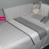Grey/White Cot Set