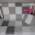 Grey & White Patchwork Duvet Cover Set