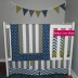 Grey/White/Navy with Lime Cot Set & Accessories