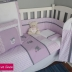 Kitten Themed Full Cot Set in Lilac