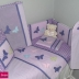 Lilac Butterflies Cot Set