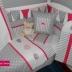 Grey/White/Cerise Pink Ellie Cot Set
