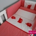 Red/White Baby Elephant Cot Set