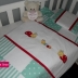 Bug Themed Camp Cot Set in Mint Green & White