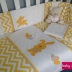 Yellow & White Bunny Themed Cot Set