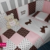 Personalised Bunny-themed linen in brown, white & pink