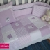 Kitten Themed Cot Comforter Set in Lilac