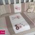 Beige & Pink Farmgirl Cot Set