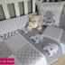 Grey & White Lamb Themed Cot Set