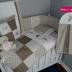 Beige/White & Brown Bunny Cot Set
