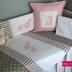 Little Ellie Cot Set in Grey/White & Pink
