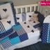 Navy & Turquoise Whale Themed Linen & Accessories