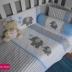 Grey & Blue Ellie Cot Set