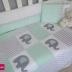 Grey, White & Pastel Mint Patchwork Ellie Themed Cot Set