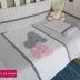 Mom & Baby Ellie Cot Set in Pink & Grey