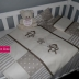 Monkey Themed Camp Cot Set in Beige & White