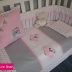Pink & Grey Owl Themed Cot Set