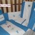 Turquoise/White Smurfs Cot Set