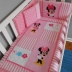 Pink/White Miss Minnie Mouse Cot Set