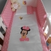Pink/White Baby Minnie Mouse Cot Set