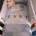 Patchwork Looney Toons Cot Set In Pale Blue Polka Dots & Stripes
