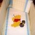 Beige/White/Blue Winnie the Pooh Cot Set