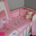 Pink/White Hello Kitty Cot Set