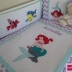 Custom Made/Personalised Little Mermaid Cot Set