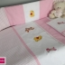 Embroidered Winnie & Friends Basic Cot Set - Pink