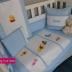 Blue & White Winnie & Friends Cot Set - B