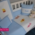 Blue & White Winnie & Friends Cot Set - A