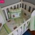 Green/WhiteTatty Teddy Cot Set