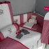 Red/White Gingham Cot Set - Tatty Teddy & Bunny