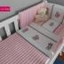 Pink/White Striped Tatty Teddy Cot Set