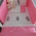 Dark Pink Tatty Teddy Cot Set