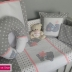 Grey, White & Pink Tatty Teddy Linen