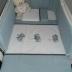 Blue/White/Grey Tatty Teddy Cot Set