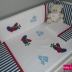 Navy/White & Red Planes & Clouds Cot Set
