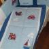 Blue/WhiteTransport Cot Set
