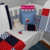 Nautical linen in red, white & navy