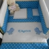 Turquoise & White Little Dino Cot Set